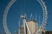 Cranes and London Eye