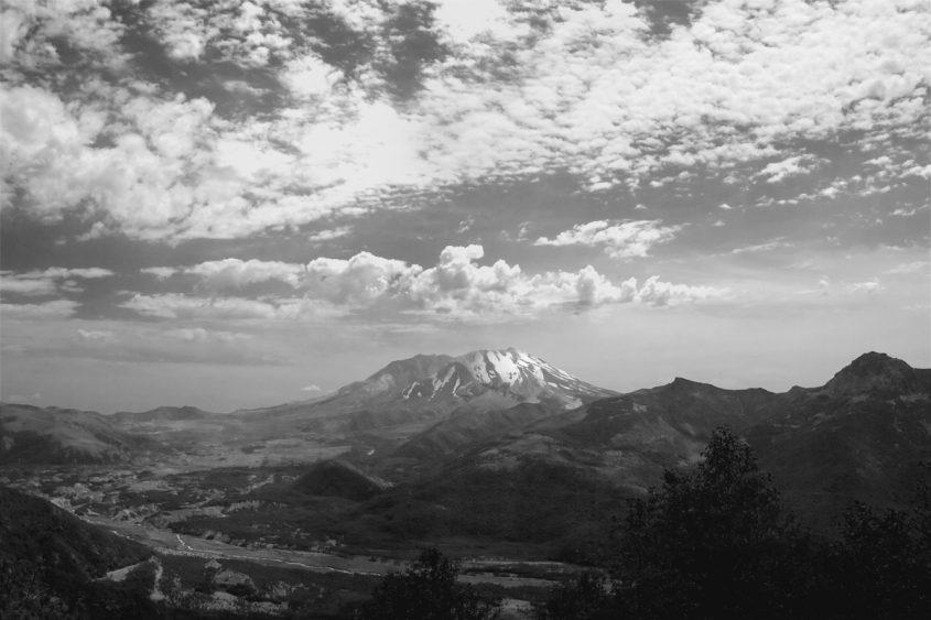 Mount St. Helens BW