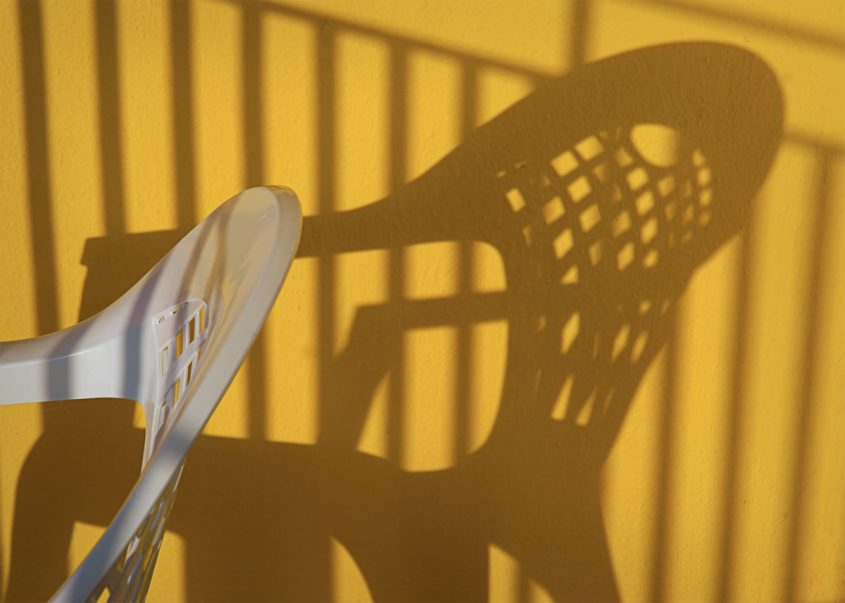 Shadows on a Yellow Wall
